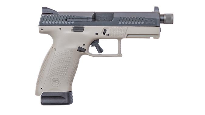 CZ P-10 C Urban Grey Suppressor Ready pistol right profile