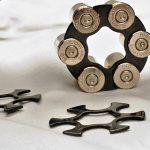 9mm revolver ammo clip, hexagon clip