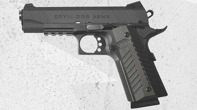 Devil Dog Arms DDA 1911 black pistol left profile