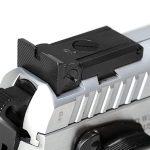 EAA Witness Elite Stock II 10mm pistol rear sight