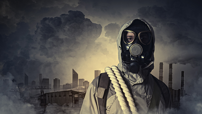natural disasters gas mask