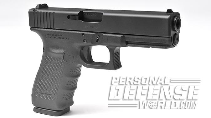 Glock 20 Gen4 10mm pistol left angle