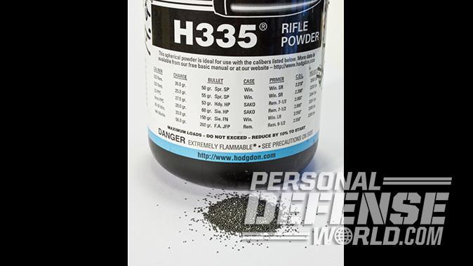 handloading hodgdon h335 powder
