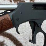 taurus judge revolver henry lever action shotgun closeup