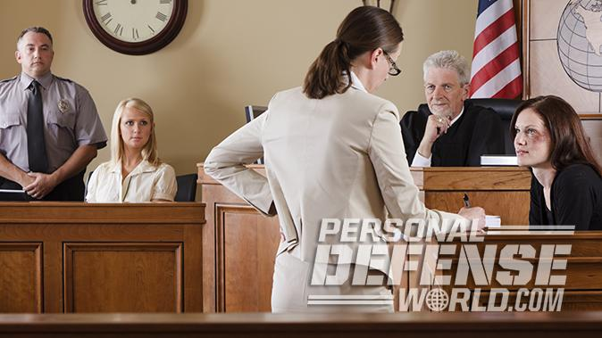 justifiable homicide courtroom