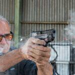 Smith & Wesson M&P9 Shield M2.0 pistol shooting