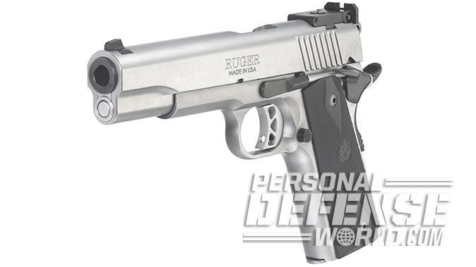 Ruger SR1911 Target 10mm pistol left angle