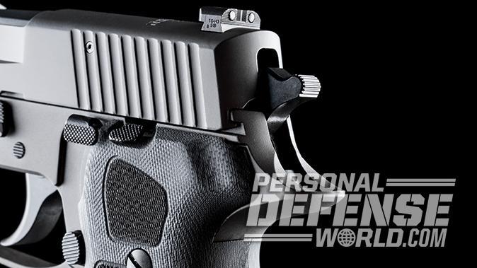 Sig Sauer P220 Legion 10mm pistol rear sight