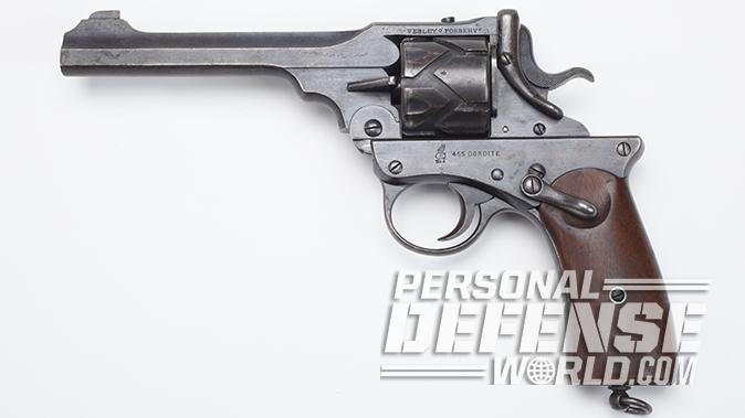 semi-auto revolver webley-fosbery left profile