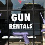 first gun rental sign