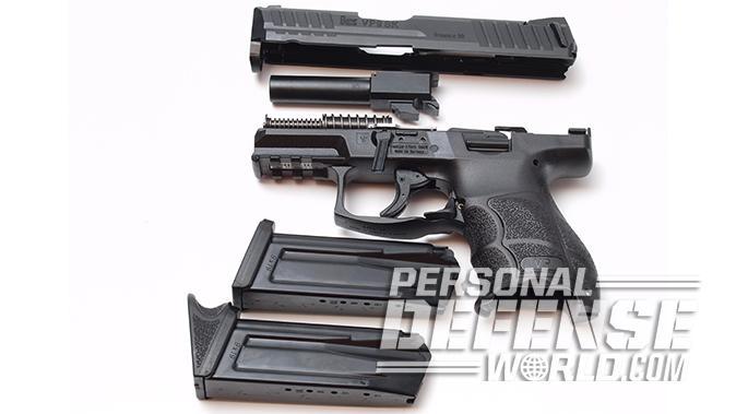 HK VP9SK pistol disassembled