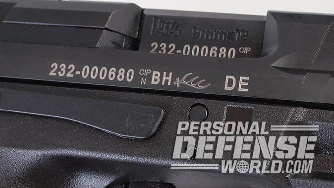 HK VP9SK pistol ejection port