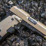 Kimber Micro 9 Desert Tan pistol right profile