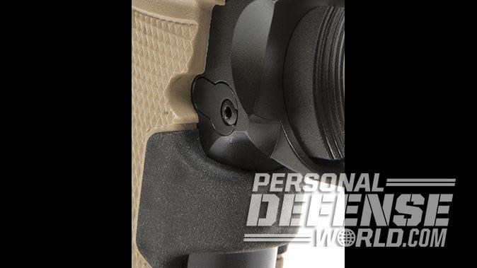 Kimber Micro 9 Desert Tan pistol closeup