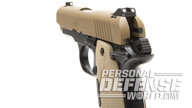 Kimber Micro 9 Desert Tan pistol rear sight