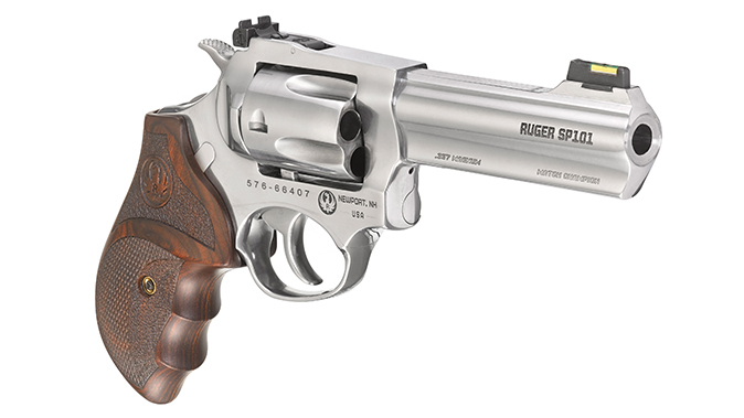 Ruger SP101 Match Champion 357 magnum revolver right angle