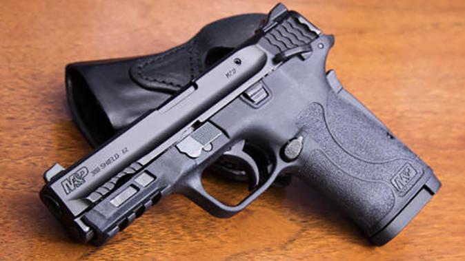Smith & Wesson M&P380 Shield EZ pistol left angle