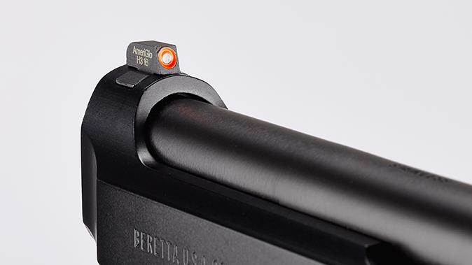 Wilson/Beretta 92G Centurion Tactical pistol front sight