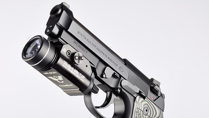 Wilson/Beretta 92G Centurion Tactical pistol rail