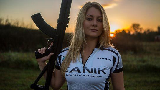 Corinne Mosher firearms training shooting lead