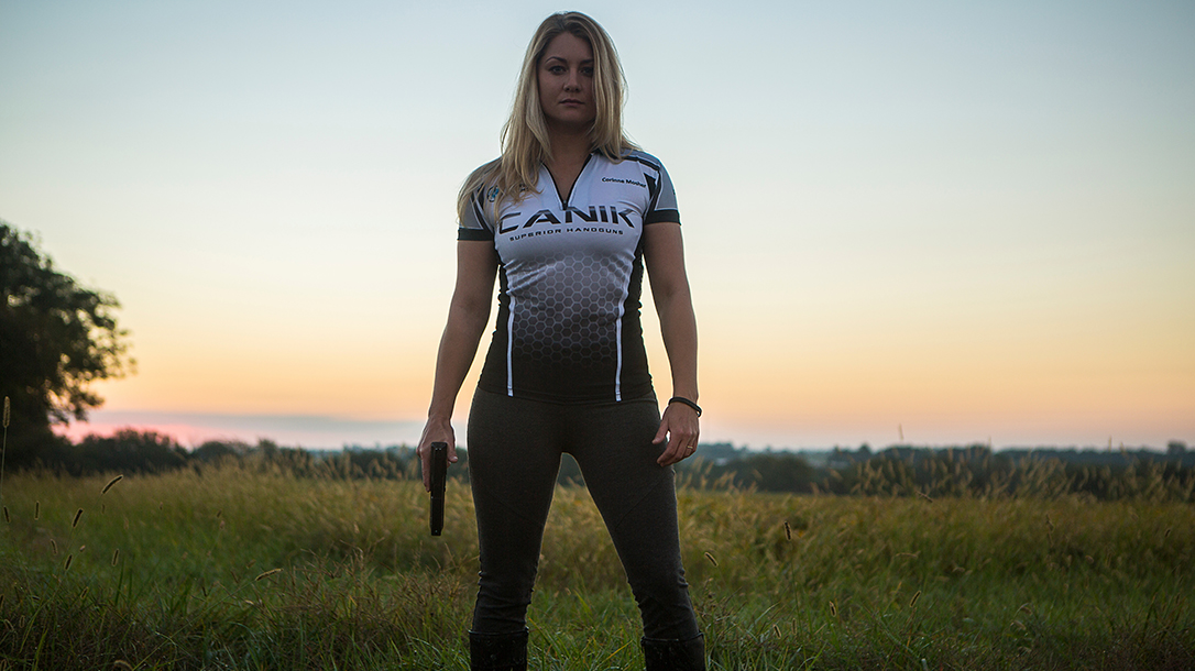 Corinne Mosher firearms training shooting pistol