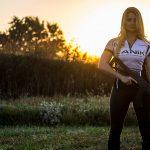 Corinne Mosher firearms training shooting sunset