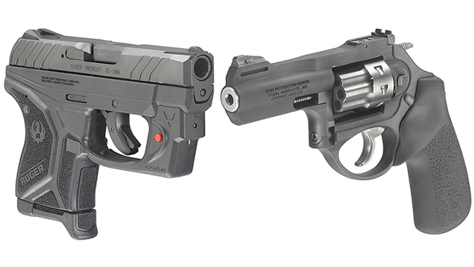 ruger lcrx revolver and lcp ii pistol
