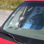 carjacking window bullet holes