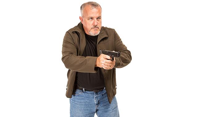 fred mastison gun drawing stance