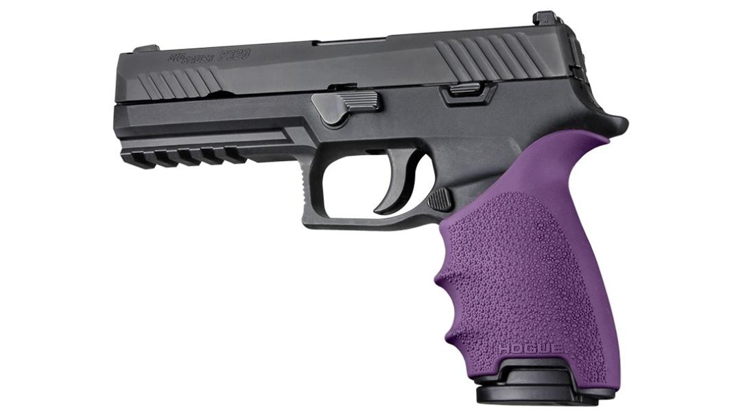 hogue handall beavertail grip p320 black purple