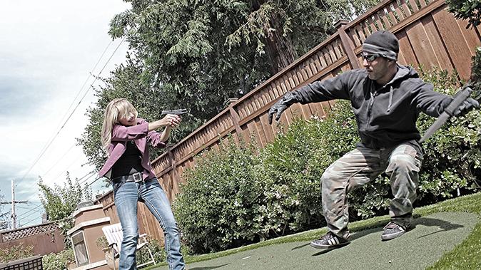 home defense plan gun shooting