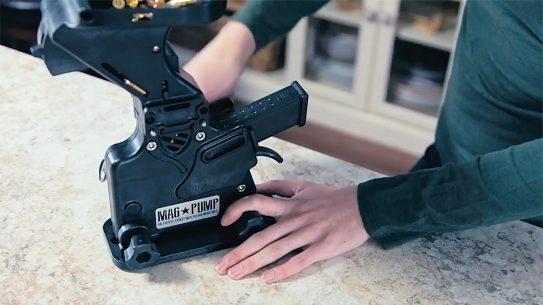magpump 9mm Luger Magazine Loader action shot