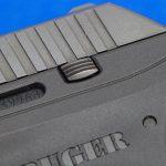 Ruger LCP pistol rear serrations