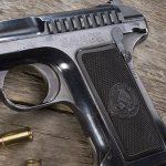 savage 1907 pistol left angle