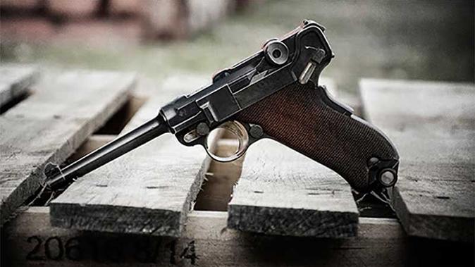 W+F Bern 1906-29 Cal. 7.65mm luger pistol edelweiss arms