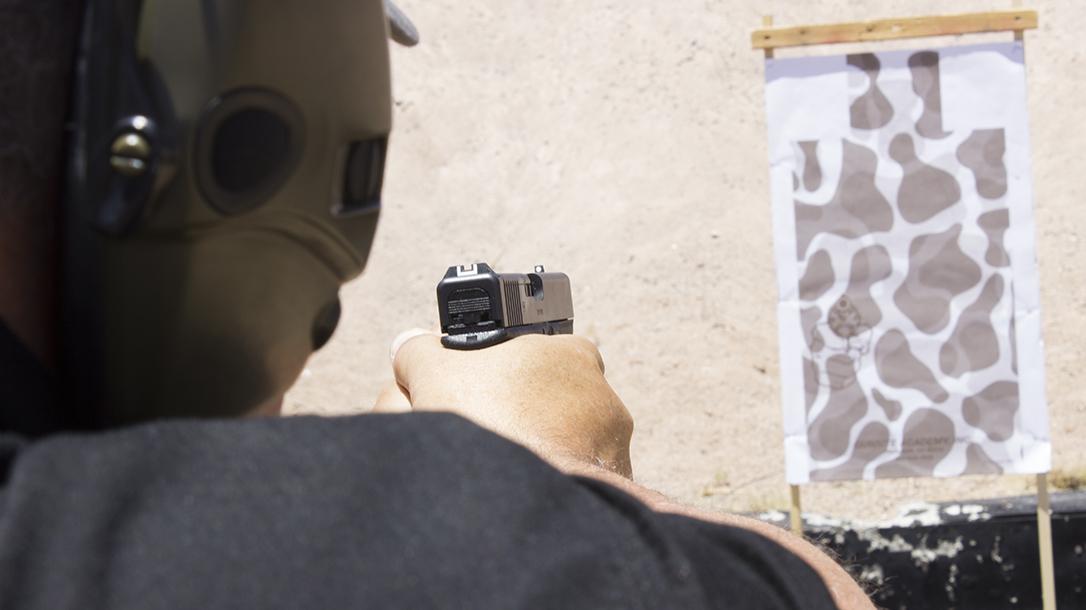 Pistol grip ways to hold a handgun range target