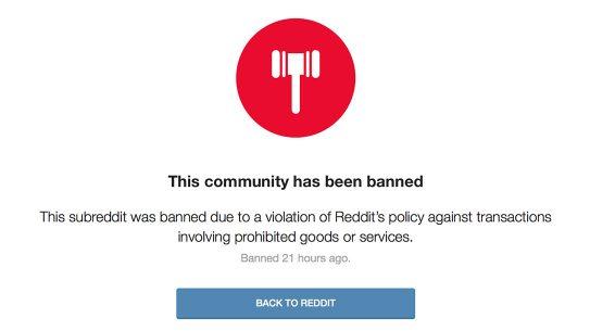 reddit gun ban
