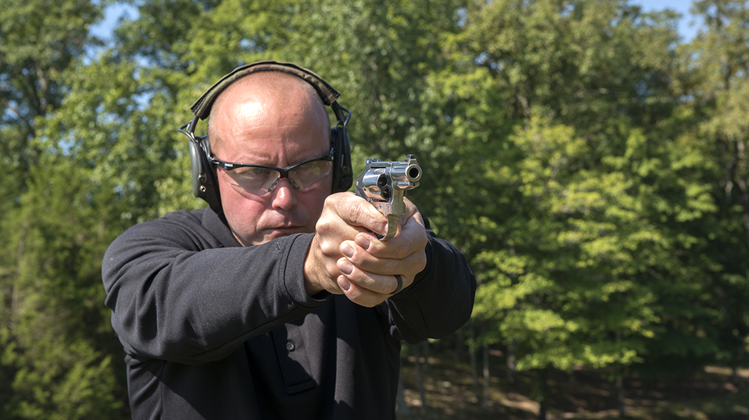 revolver hammer shooting practice double-action