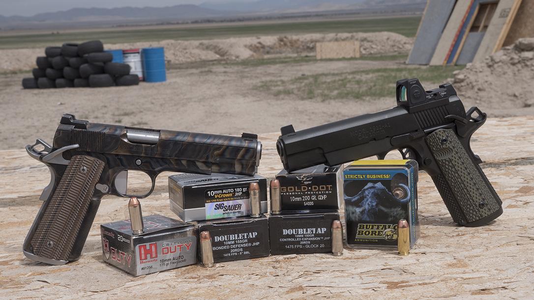 10mm Pistol, ammo, ammunition, self-defense pistols