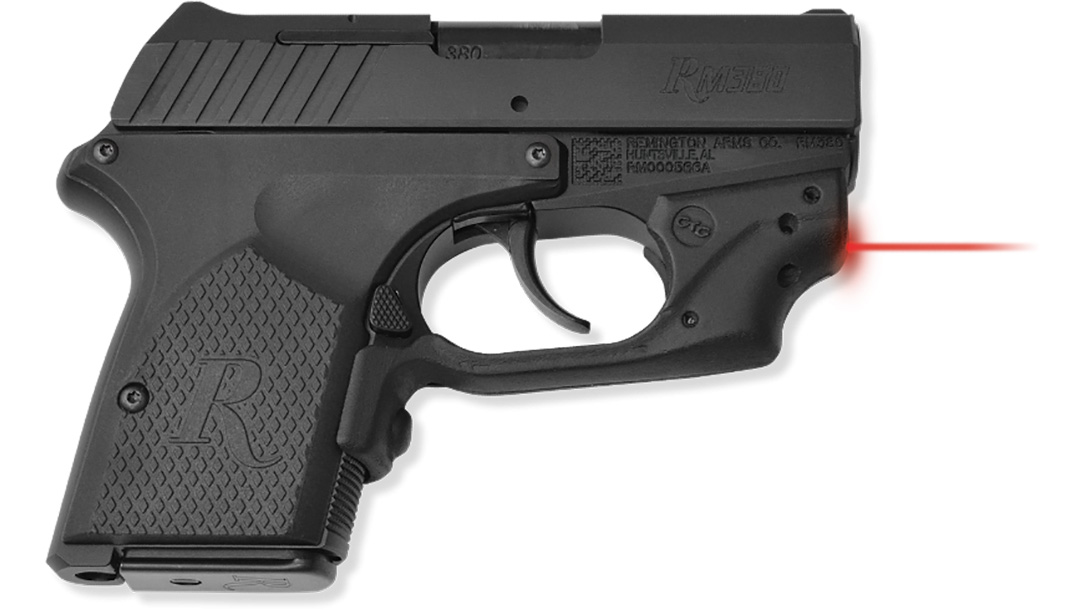 crimson trace laserguard remington rm380 pistol right profile