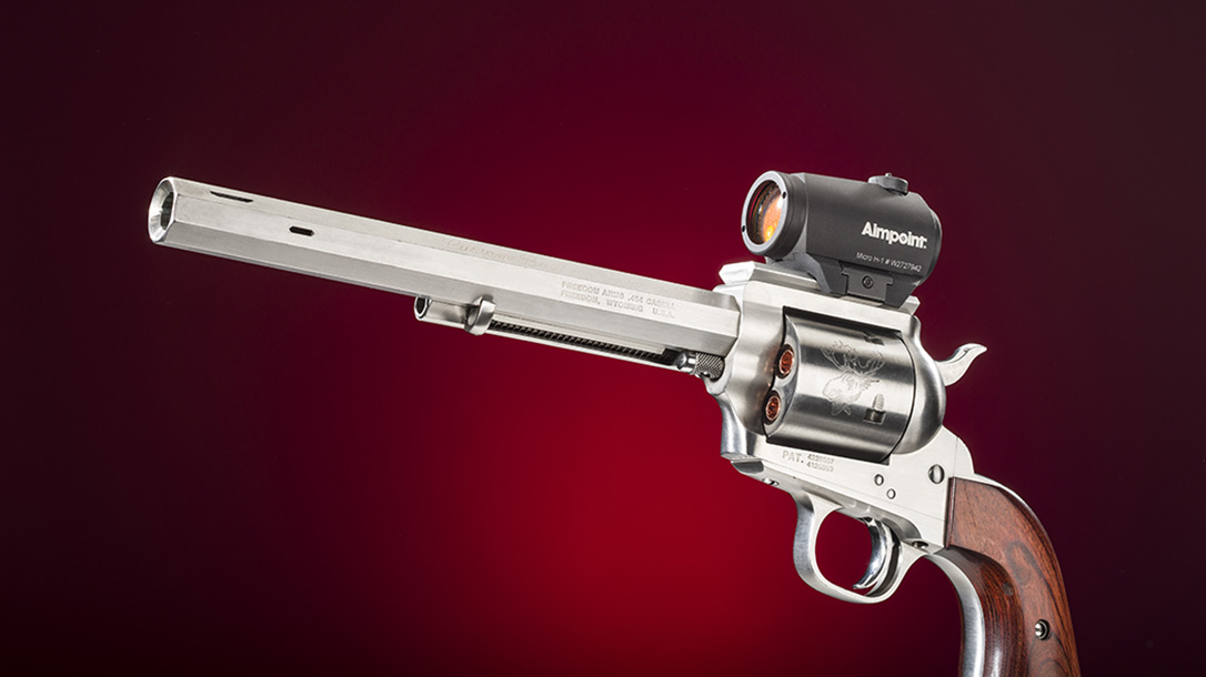 Freedom Arms Model 83 Premier Grade Stalker revolver left profile