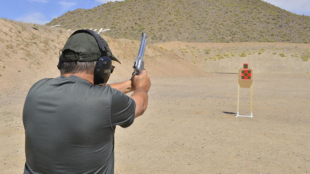 Freedom Arms Model 83 Premier Grade Predator revolver target