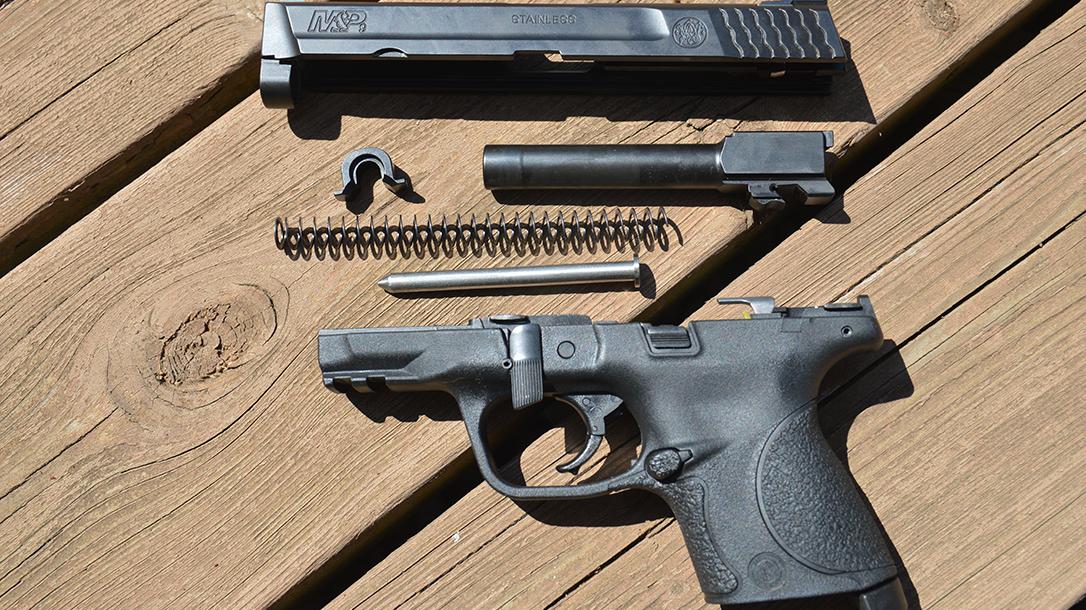 atei hybrid kit m&p9c pistol field stripped