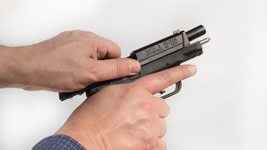 atei hybrid kit m&p9c pistol slide cocked