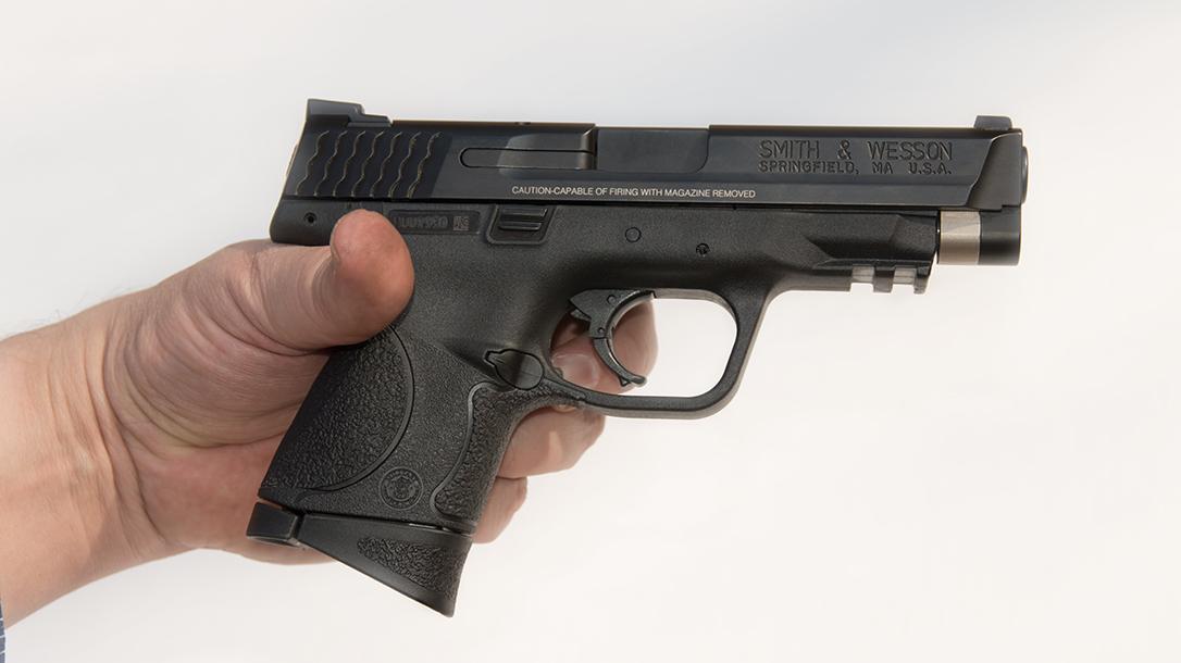 atei hybrid kit m&p9c pistol in hands
