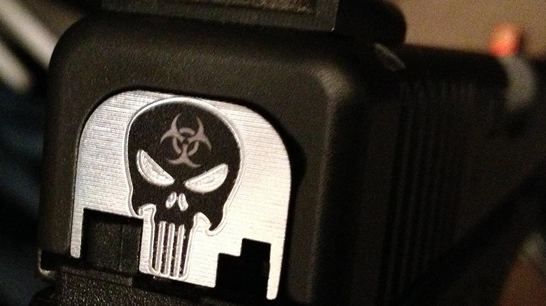 massad ayoob gun decorations skull slide