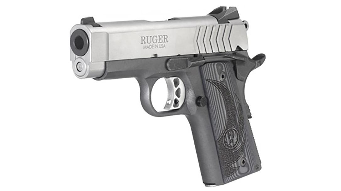 Ruger SR1911 Officer-Style pistol left angle