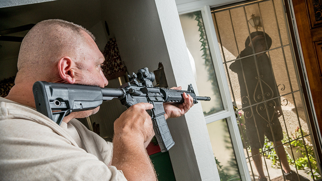 springfield saint rifle front door