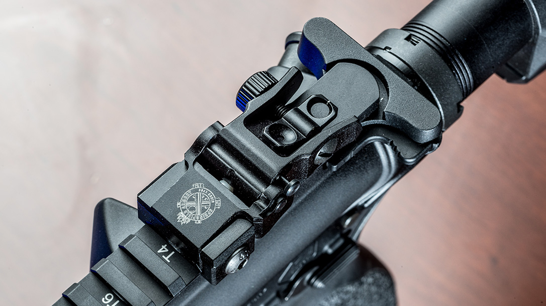 springfield saint rifle rear sight
