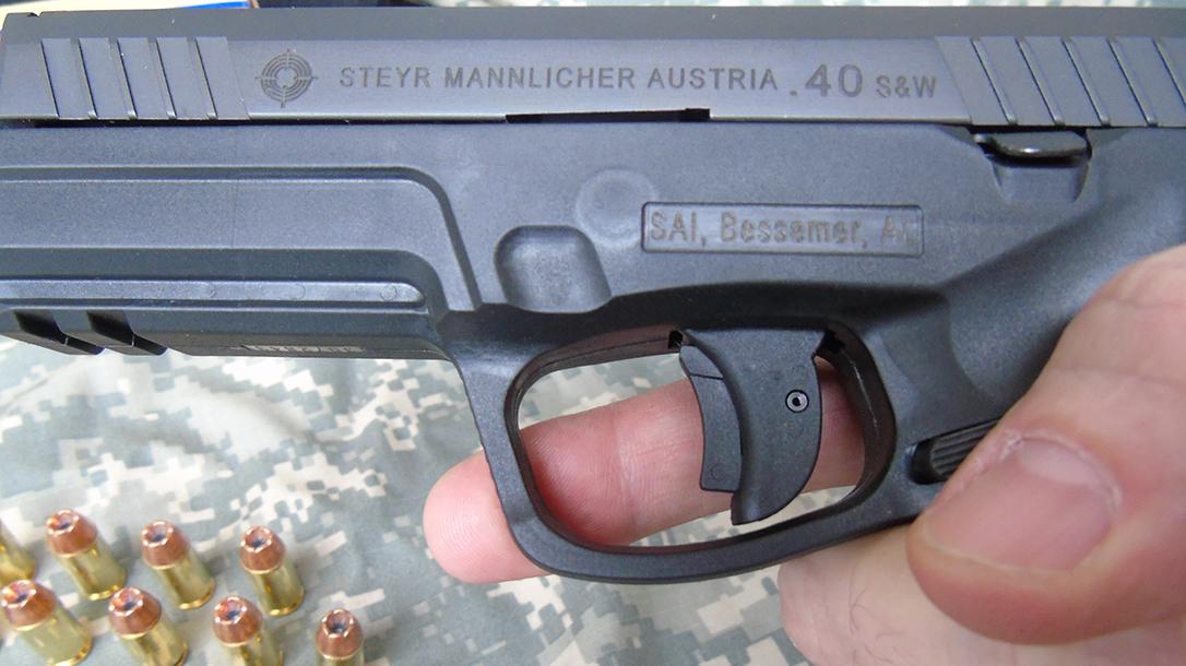 Steyr L40-A1 pistol trigger